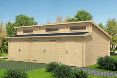 Lasita Maja Gartenhaus Holzgarage Hawaii mit Schwingtor