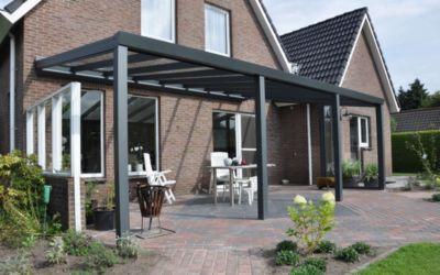 VP Trading Terrassenüberdachung 700 x 400 aus Aluminium, inkl. Statik und VSG-Glas-Eindeckung