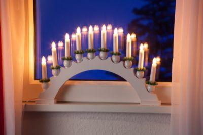 Leuchter 10-flammig, weiß