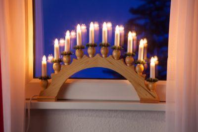 Leuchter 10-flammig, natur
