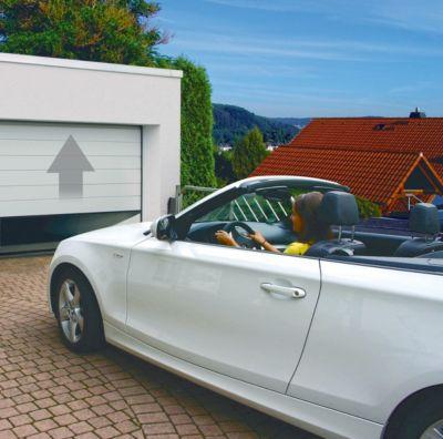 Schellenberg Sektional-Garagentor weiß, 2375 mm inkl. elektrischen Torantrieb Drive 700P | Baumarkt > Garagen und Carports > Garagentore | Schellenberg
