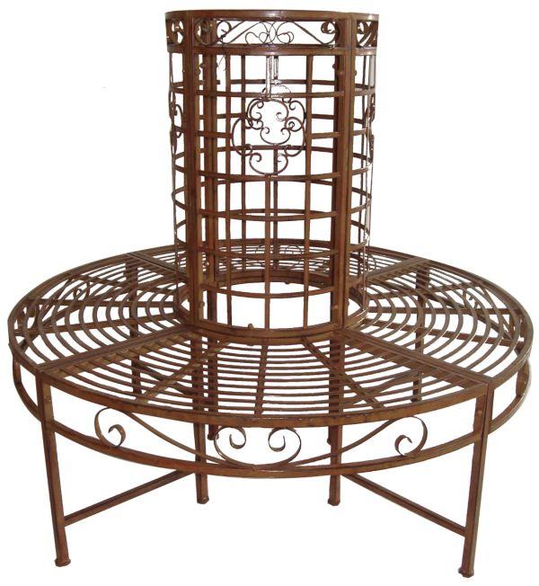 garden pleasure baumbank metall rund gartenbank gartenb nke bank b nke ebay. Black Bedroom Furniture Sets. Home Design Ideas