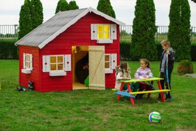 Annika Kinderspielhaus mit Schlafboden