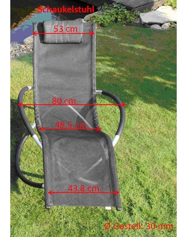 Leco schaukelstuhl versch farben liegestuhl for Schaukelstuhl auflage grau