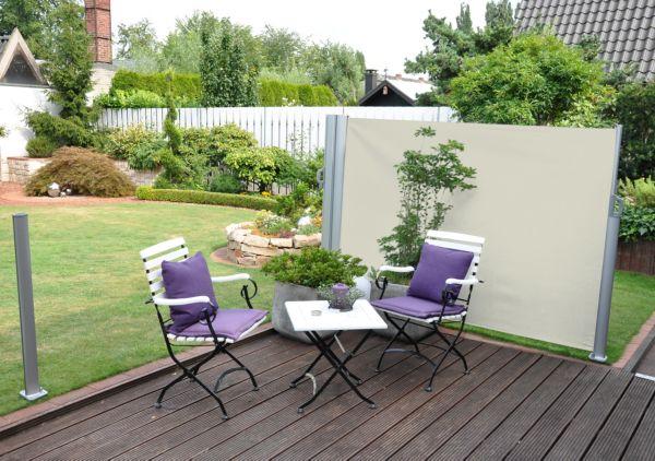 leco doppel seitenmarkise markise markisen sichtschutz windschutz ebay. Black Bedroom Furniture Sets. Home Design Ideas