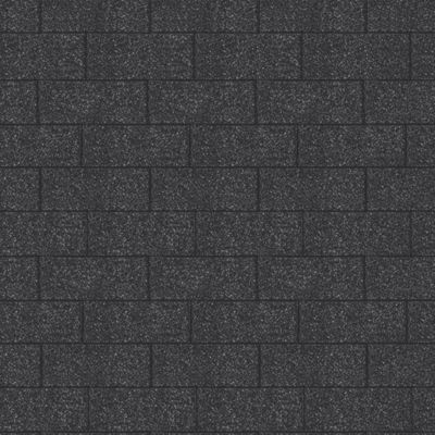 Karibu Dachschindeln Rechteck, schwarz