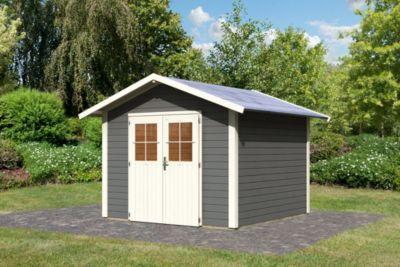 woodfeeling linau 6 gartenhaus terragrau baumarkt xxl. Black Bedroom Furniture Sets. Home Design Ideas