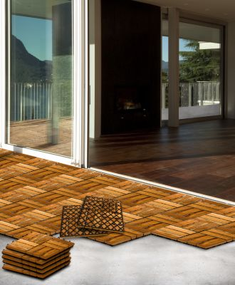 holzfliesen g nstig kaufen. Black Bedroom Furniture Sets. Home Design Ideas