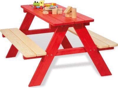 Kindersitzgarnitur Nicki für 4 Kinder, rot