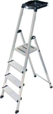 Krause Stufen-StehLeiter Secury mit MultiGrip System 4 Stufen   Baumarkt > Leitern und Treppen > Stehleiter   Aluminium   krause