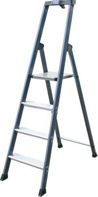 Krause SePro´´ Stufen-Stehleiter, eloxiert - 4 Stufen´´ | Baumarkt > Leitern und Treppen > Stehleiter | Aluminium | krause