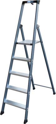 Krause SePro´´ Stufen-Stehleiter, eloxiert - 5 Stufen´´   Baumarkt > Leitern und Treppen   Aluminium   krause