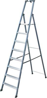 Krause Stufen-StehLeiter SePro S eloxiert 8 Stufen | Baumarkt > Leitern und Treppen > Stehleiter | Aluminium | krause