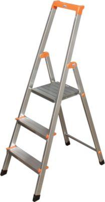 Krause Stufen-StehLeiter Solidy 3 Stufen | Baumarkt > Leitern und Treppen | Aluminium | krause