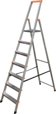 Krause Stufen-StehLeiter Solidy 7 Stufen | Baumarkt > Leitern und Treppen > Stehleiter | Aluminium | krause