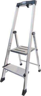 Krause Stufen-StehLeiter Safepro 2 Stufen   Baumarkt > Leitern und Treppen > Stehleiter   Aluminium   krause
