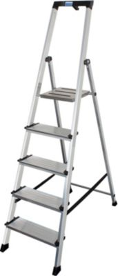 Krause Sepuro´´ Stufen-Stehleiter, 5 Stufen´´   Baumarkt > Leitern und Treppen > Stehleiter   Aluminium   krause