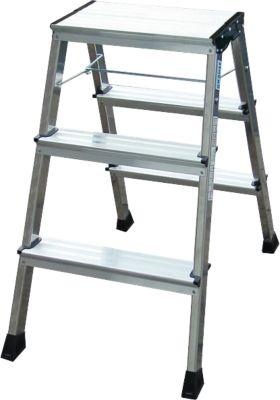 Doppel-KlappTritt Rolly 2 x 3 Stufen Alu