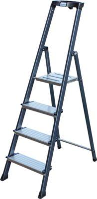 Krause Securo´´ Stufen-Stehleiter, 4 Stufen´´ | Baumarkt > Leitern und Treppen > Stehleiter | Aluminium | krause