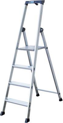 Krause Solido´´ Stufen-Stehleiter, 4 Stufen´´   Baumarkt > Leitern und Treppen   Aluminium   krause