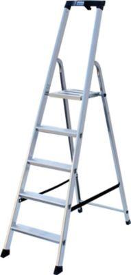 Krause Stufen-StehLeiter Solido 5 Stufen