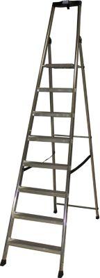 Krause Stufen-StehLeiter Solido 8 Stufen | Baumarkt > Leitern und Treppen > Stehleiter | Aluminium | krause