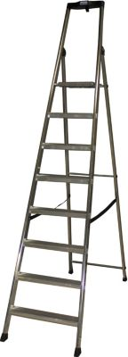 Krause Solido´´ Stufen-Stehleiter, 8 Stufen´´ | Baumarkt > Leitern und Treppen > Stehleiter | Aluminium | krause