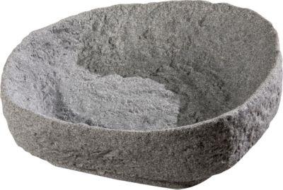 """GreenLife  Pflanzschale für Dekorregenspeicher """"Hinkelstein"""" granitgrau"""