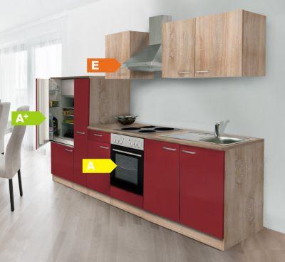 Küchen Esszimmergarnituren : respekta k chenzeile kb300esrc 300 cm rot eiche s gerau nachbildung plus de ~ Bigdaddyawards.com Haus und Dekorationen