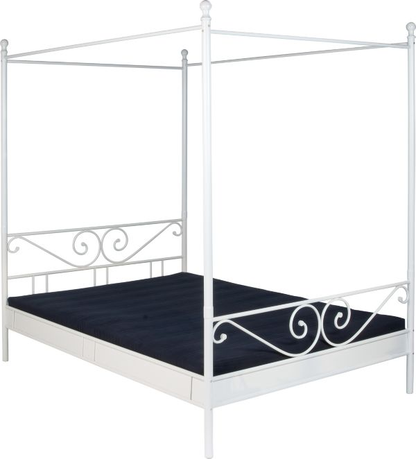 reality himmelbett manege 140x200 cm m dchenbett prinzessinbett kinderbett ebay. Black Bedroom Furniture Sets. Home Design Ideas