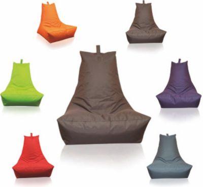 Sitzsack Lounge-Sessel dunkelbraun