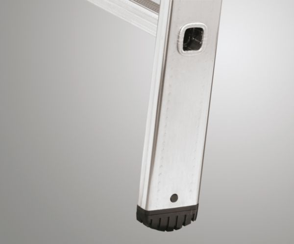 hailo profistep uno aluminium anlegeleiter 9 12 oder 18 sprossen ebay. Black Bedroom Furniture Sets. Home Design Ideas