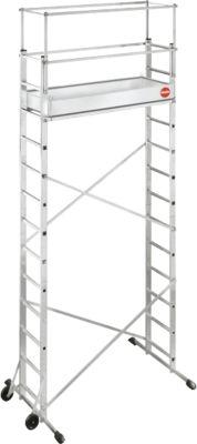 ProfiStep® multi Aluminium-Leitern-Gerüst 2 x 6 Sprossen inkl. Zusatzgerüst 2 x 7 Sprossen und Beton-Ballastgewicht (12,5 kg)