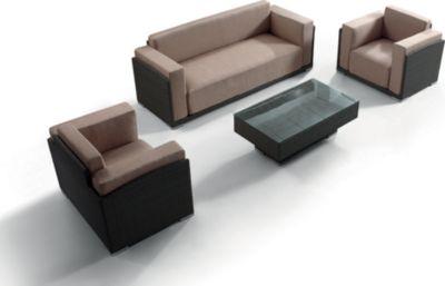 Benedomi  Luxus Polyrattan Loungegruppe Tobago 4tlg.