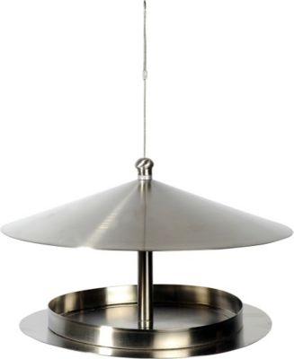 LUXUS VOGELHAUS DOBAR Futterhaus »Silberglanz«, zum Hängen, Ø/H: 29/19,5 cm