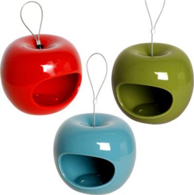 LUXUS VOGELHAUS DOBAR Futterhaus »Apfel«, 3er Set, zum Hängen, Ø/H: je 14/12 cm