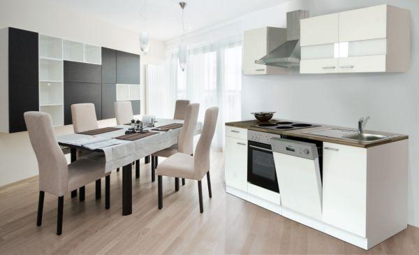 respekta k chenzeile kb220ww 220 cm wei k che k chen k chenblock ebay. Black Bedroom Furniture Sets. Home Design Ideas