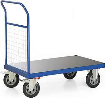 Protaurus  TAUROFLEX Plattformwagen 400 kg mit Stirnwand aus Gitter