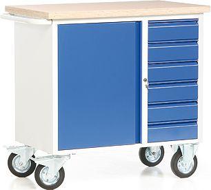 protaurus rotauro fahrbare werkbank mit 1 schrank und 6 schubladen baumarkt xxl. Black Bedroom Furniture Sets. Home Design Ideas