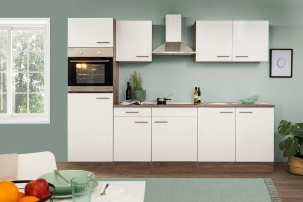 respekta k chenzeile kb270eyw 270 cm eiche york nachbildung k che k chen ebay. Black Bedroom Furniture Sets. Home Design Ideas