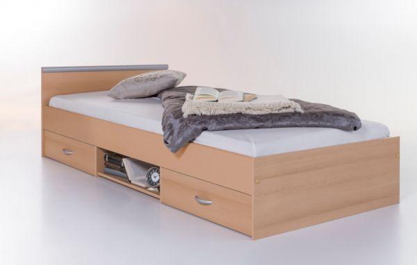 bett einzelliege jugendbett 90x200 kinderzimmer schlafzimmer buche ebay. Black Bedroom Furniture Sets. Home Design Ideas