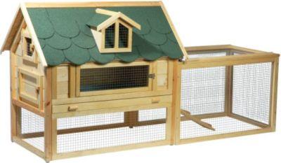 Schipkau Angebote Luxus-Kleintierstall ´´Open Sky´´ mit Freigehege und Schiebedach