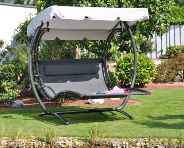 leco duo swing liege xxl gartenliege gartenschaukel. Black Bedroom Furniture Sets. Home Design Ideas