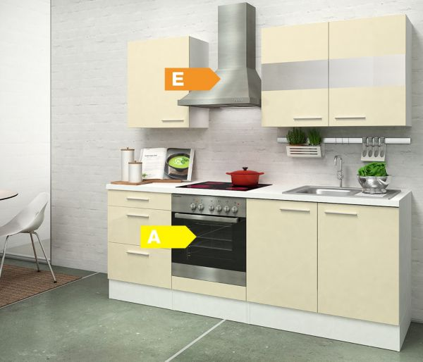respekta premium k chenzeile rp210wwc 210 cm wei k che k chenblock k chen ebay. Black Bedroom Furniture Sets. Home Design Ideas