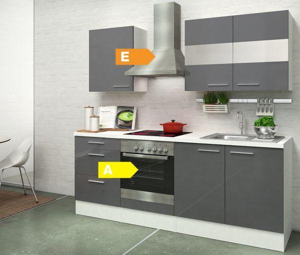respekta premium k chenzeile rp210wwc 210 cm wei k che. Black Bedroom Furniture Sets. Home Design Ideas