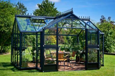 Juliana Orangerie 15,2 m² Gewächshaus mit 3 mm Sicherheitsglas - anthrazit