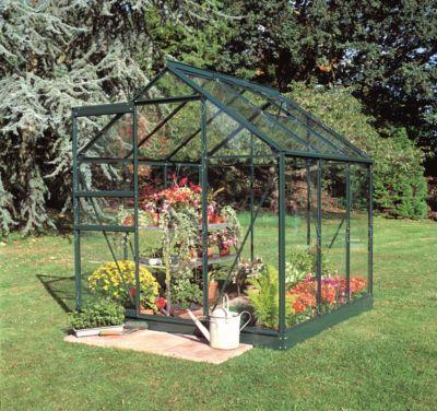 Popular 66 3,8 m² Gewächshaus mit 3 mm Blankglas - grün