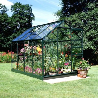 Popular 86 5,0 m² Gewächshaus mit 3 mm Blankglas - grün