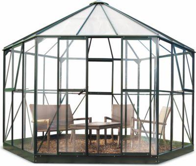 Atrium Gewächshaus mit 3 mm Sicherheitsglas - grün