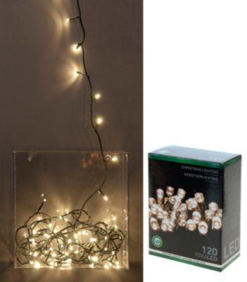 HS H&S Lichterkette 120 LEDS warm weiss